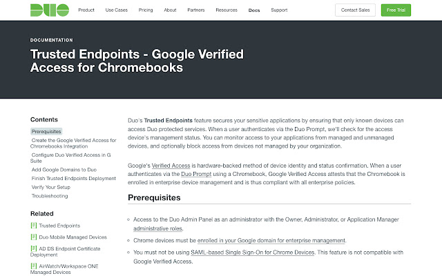 Google Verified Access by Duo