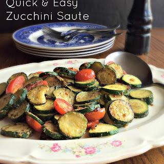 Quick & Easy Zucchini Saute