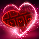 Live Neon Red Heart Keyboard Theme for PC