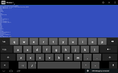 Android Terminal Emulator Screenshot