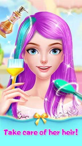 👸💇Long Hair Beauty Princess - Makeup Party Game screenshot 1