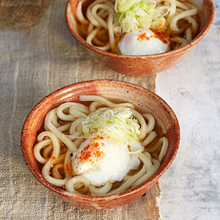 Udon with Soft Egg and Green Onion (Onsen Tamago Udon).