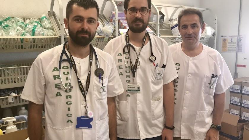 Los doctores Fole, Cruz y Parma.
