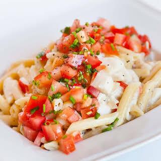 Creamy Crab and Tomato Pasta.