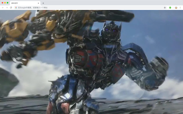 Optimus Prime HD New Tab Transformers Theme