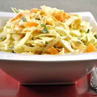 Easy Cabbage Salad with Yogurt Dressing.