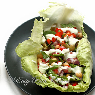 Lettuce Wrap With Tzatziki Sauce Diabetes Friendly