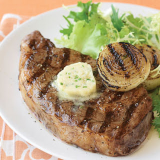 Grilled Rib-eye Steaks with Miso Butter