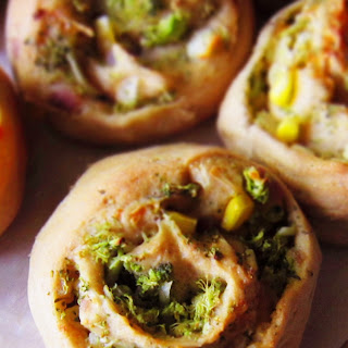 Savory Veggie Bread Rolls