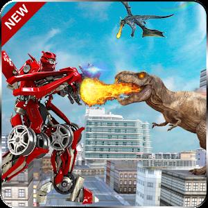 Red Robots Ranger Dino Shoot 20 Dinosaur lite 20 1.0.1 by Player Games Studio logo