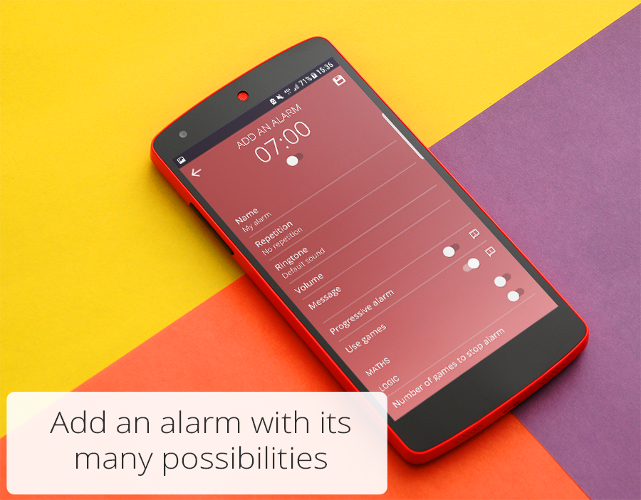UP - Alarm Clock free- screenshot