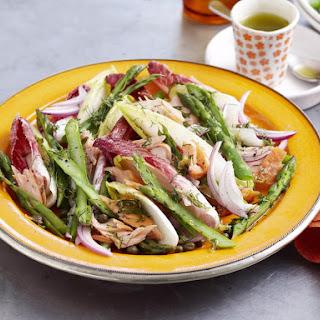 Salmon, Endive and Asparagus Salad