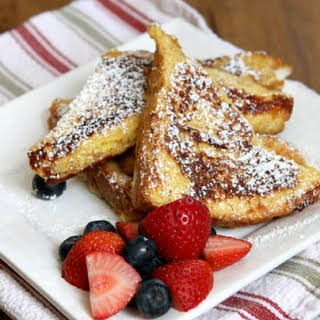 Ice Cream Soaked French Toast.