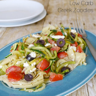 Low Carb Greek Zoodles.