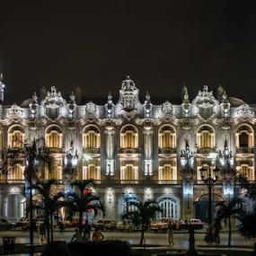 The Great Theatre, Havana. by Griff Johnson - Buildings & Architecture Public & Historical ( restoration, cityscape, architecture, havana, palms, nightscape, city, sony, theatre, trees, night, rx100mkv, rx100mk5, cuba )