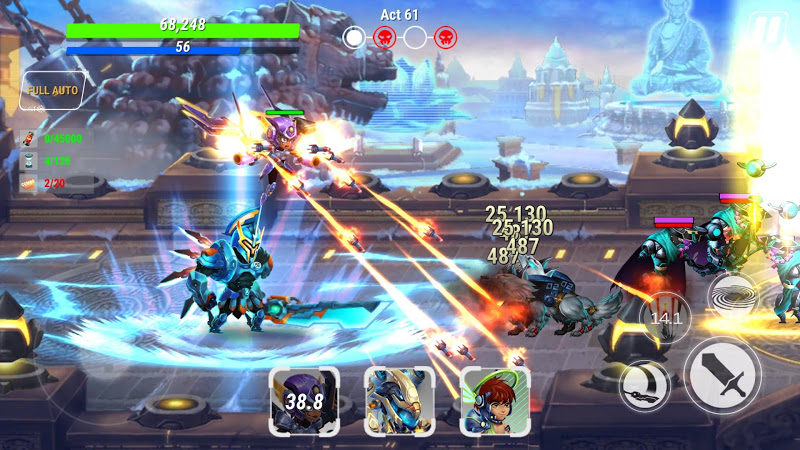 Heroes Infinity: God Warriors -Action RPG Strategy Screenshot 11