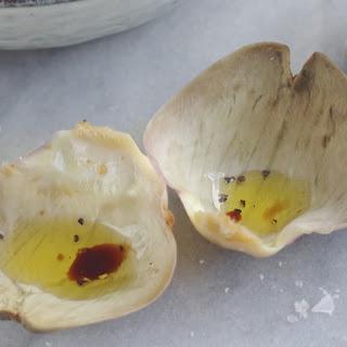 Globe Artichoke with Balsamic Dip.