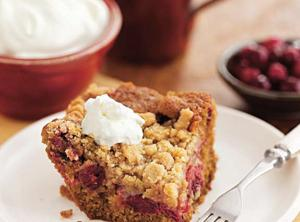 Cranberry Gingerbread Buckle Recipe