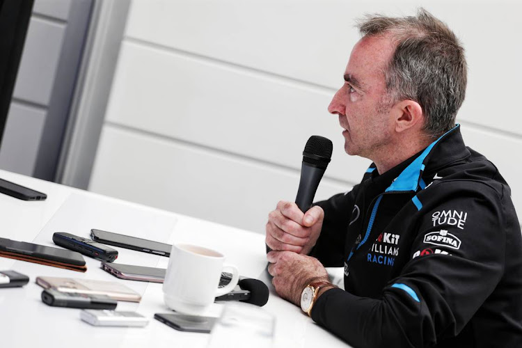 Paddy Lowe, Williams Racing Chief Technical Officer, with the media.