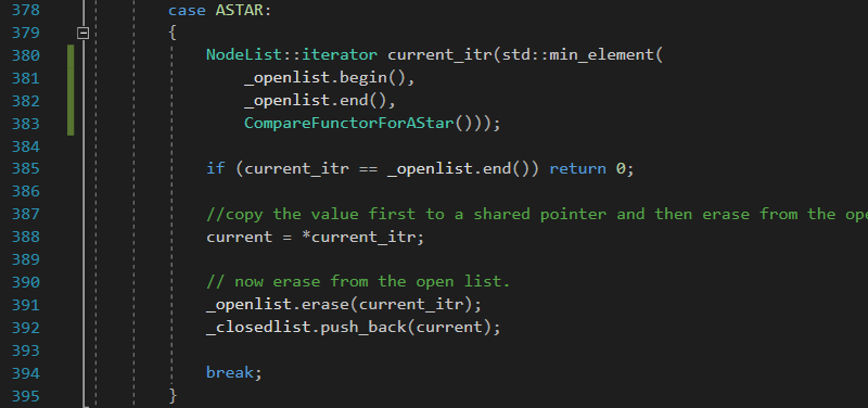GetNextNode (ASTAR algorithm) function in Solver class for Solving the 8 puzzle problem using A* (star) algorithm