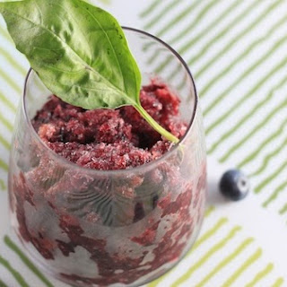Blueberry Basil Vodka Granita