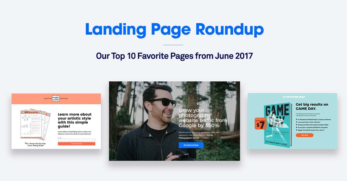 10 of the Best Landing Pages We Found in June 2017