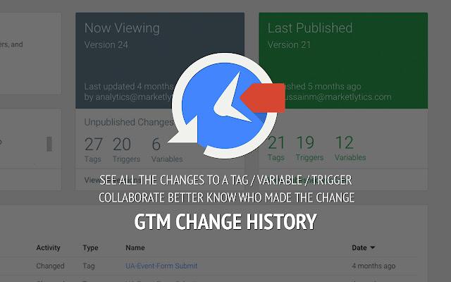 GTM Change History