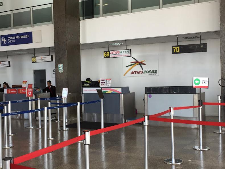 クスコ 空港 アマゾナス航空