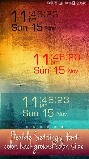 Flexi Clock Widget Seconds