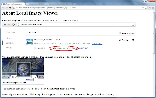 Local Image File Viewer