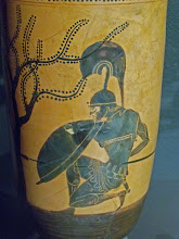 Photo: Achilles on an Attic vase .......... Achilles op een Attische Lekythos, detail