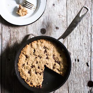 Chocolate Chip Almond Flour Skillet Cookie (Gluten-Free)