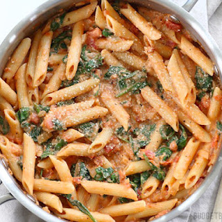 Pasta With Spinach And Tomatoes Recipes.