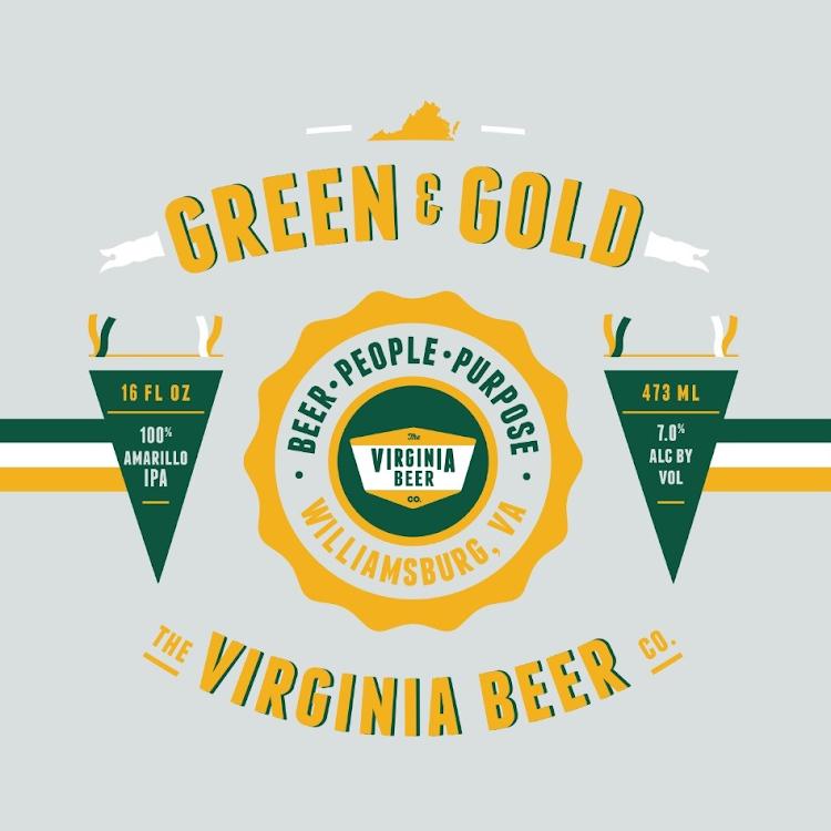 Logo of Virginia Beer Co. Green & Gold