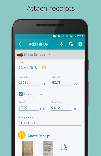 Fuel Buddy - Car Maintenance; Fuel and Mileage Log  screenshots 6