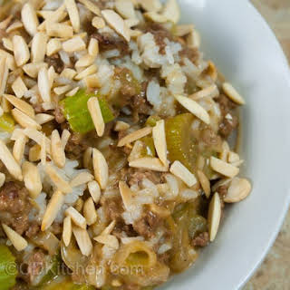 Slow Cooker Beef And Rice Casserole.