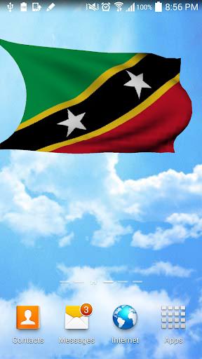 Saint Kitts and Nevis 3D Flag