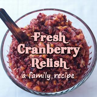 Fresh Cranberry Relish - A Family