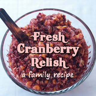 Fresh Cranberry Relish - A Family.