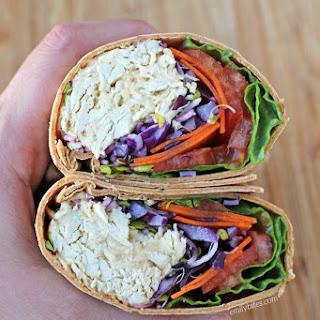 Chicken Hummus Veggie Wrap Recipe