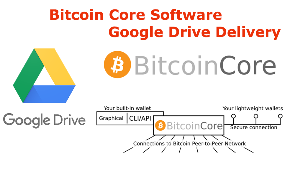 Details about Bitcoin Core - Bitcoin Wallet Software - Google Drive Delivery