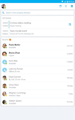 Skype for Business for Android 6.27.0.18 screenshots 13