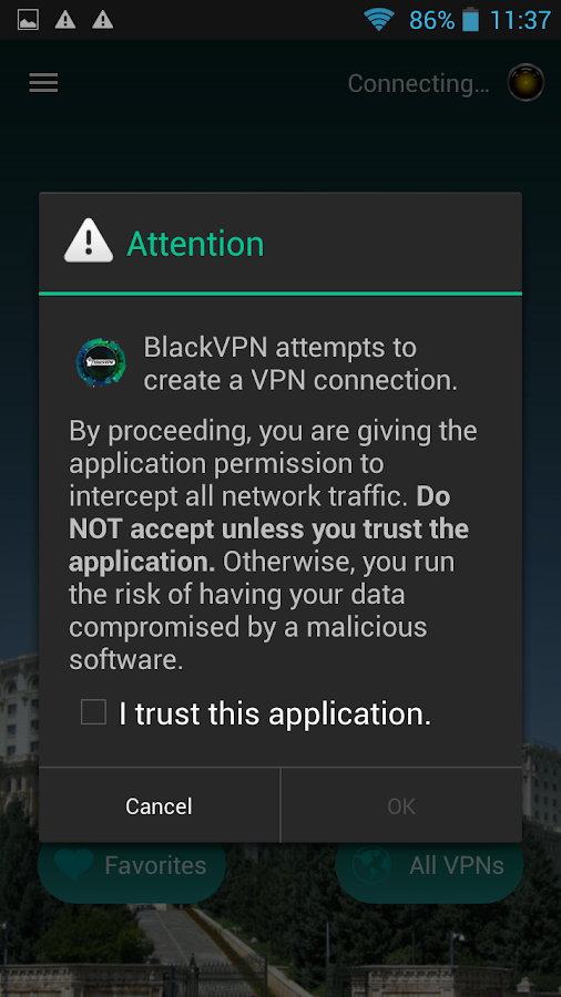 Black VPN- screenshot
