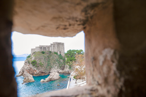 View-from-watchtower.jpg - A view of the fortress from a watchtower along the top of Old Dubrovnik's perimeter.