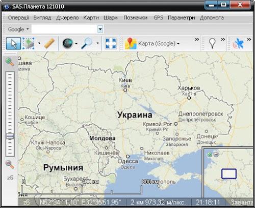 Google Maps в OziExplorer
