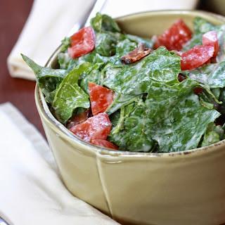 BLT Salad with Sriracha Ranch Dressing