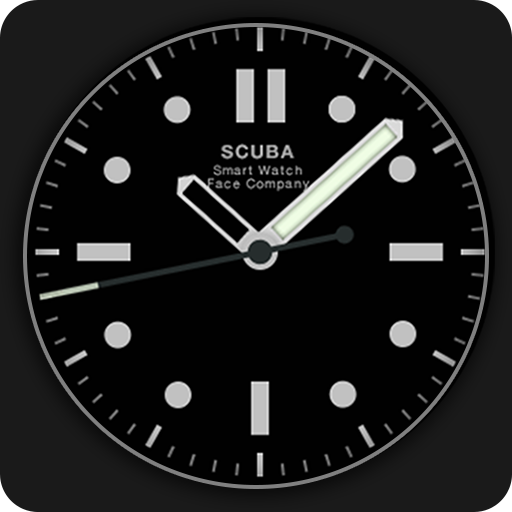 Scuba Diver Watch Face