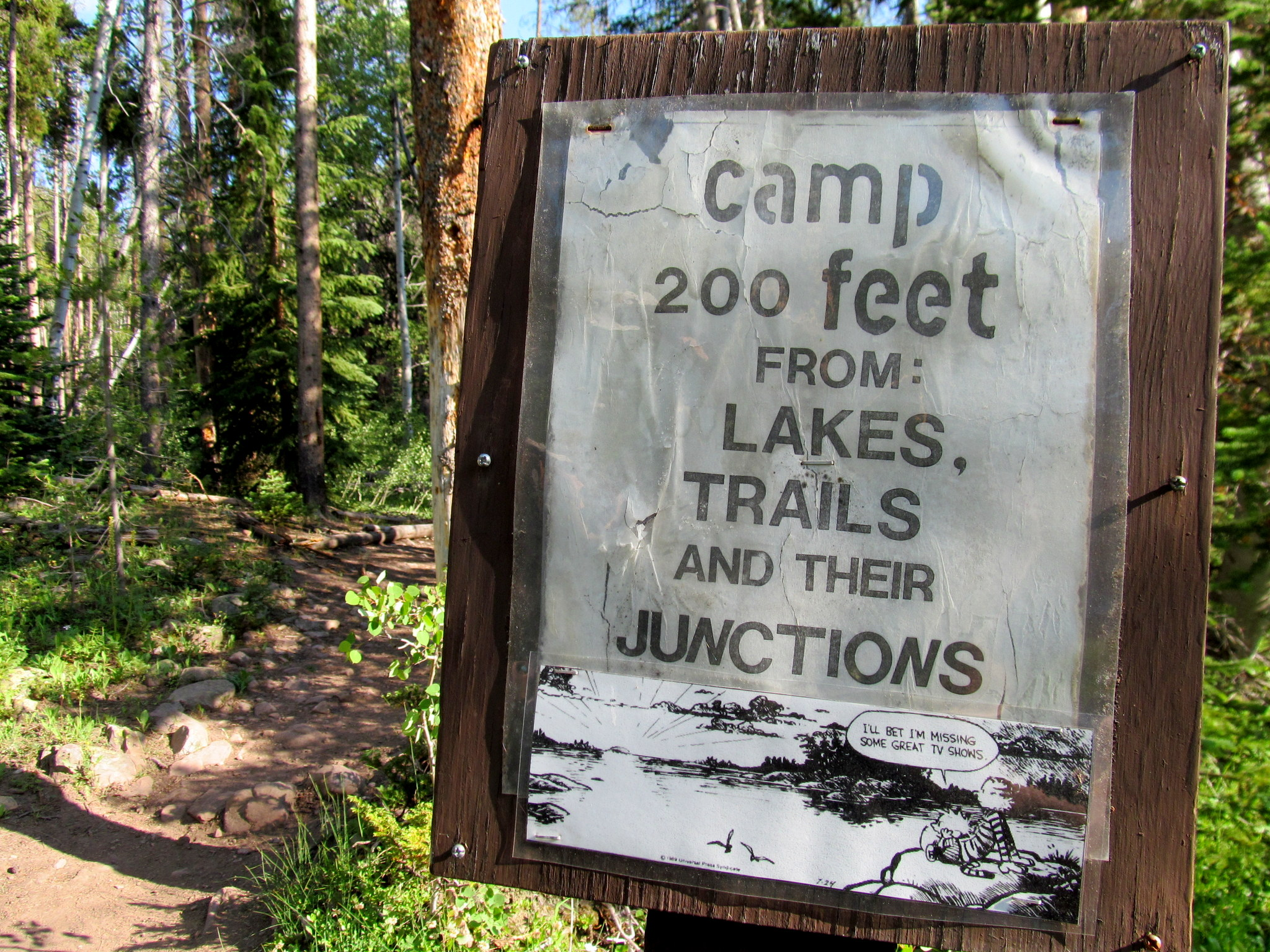 Photo: Sign along the trail