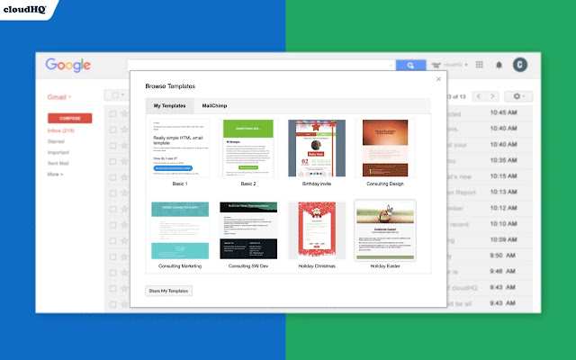 If you want to send beautiful emails, you can create a template in google docs, then copy it into gmail. Gmail Email Templates By Cloudhq