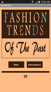 Fashion Trends Of The Past- screenshot thumbnail